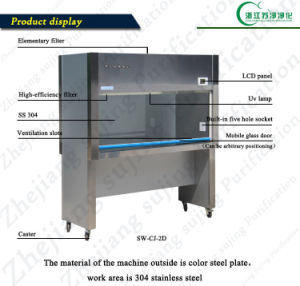 Single-Person Single-Side (horizontal air supply) Clean Bench (SW-CJ-1G) pictures & photos
