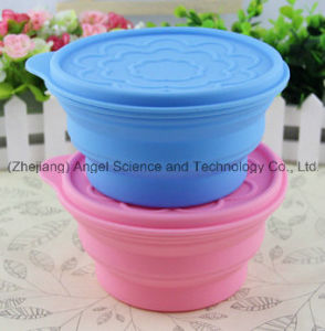 100% Food Grade Collapsible Silicone Food bowl with Lid 830ml Sfb07 pictures & photos