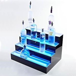 Professional Acrylic LED Illuminated Wine Display China Acrylic Wine Display Manufacturer pictures & photos