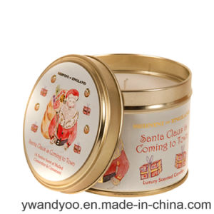 Soy Scented Custom Candle in Tin Container with Lid