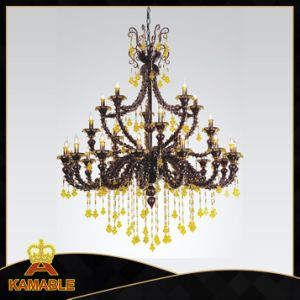 High Class Crystal Glass Chandelier Pendant Lamp (90009-15+5+5) pictures & photos