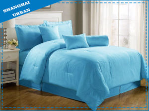 Blue Stripe Hotel Cotton Bedding Set with Comforter Set pictures & photos