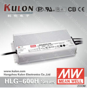 Meanwell LED Driver Hlg-600h 12V 15V 20V 24V 48V 600W Single Output Waterproof LED Driver IP67