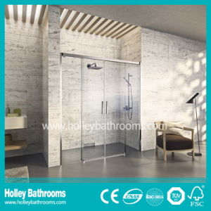 Shower House with 2 Sliding Doors Mounted on Floor (SD207N) pictures & photos
