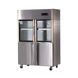 870L Four Doors Double Temperature Direct Cooling Kitchen Refrigerator pictures & photos