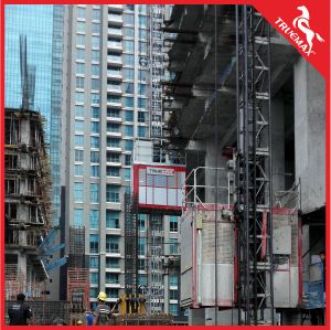 Building Used Twin Cage Galvanized Mast Section Building Hoist pictures & photos