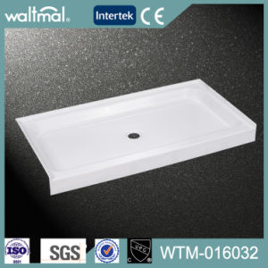 Cupc Approved Acrylic Shower Base/Tray with Wall Flange pictures & photos