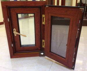Thermally Broken Aluminium Casement Window with Mosquito Net