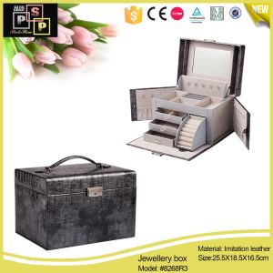 2016 China Factory Vogue Luxury Custom PU Leather Jewelry Boxes Swatch Boxes (8268) pictures & photos