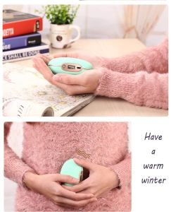3 Gears Temperature Hand Warmer Portable Mini Power Bank (White) pictures & photos