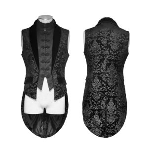 Y-696 Gothic Gorgeous Fake Two Pieces Swallow Tail Sleeveless Velveteen Jacket pictures & photos