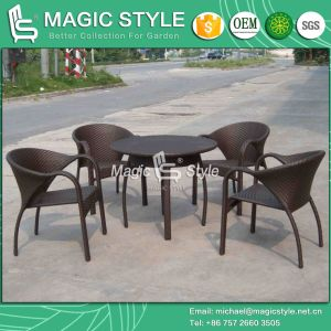 Patio Rattan Dining Set Wicker Stackable Chair (Magic Style) pictures & photos