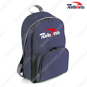 Cheap Polyester Plain Navy Hiking Backpacks for Promotion pictures & photos
