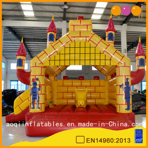 Castle Shape Inflatable Jumping Bouncer Slide Combo Inflatable Bed (AQ673) pictures & photos