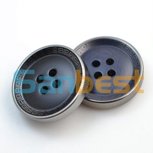 High Quality Fashion 4-Holes Overcoat Resin Buttons pictures & photos