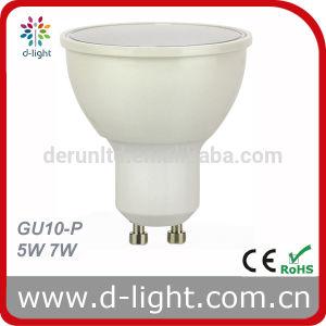 CE RoHS Ra>80 PF>0.5 SMD2835 120 Degree Plastic Aluminum 400lm GU10 5W LED Spotlight pictures & photos