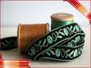 Jacquard Trim Ribbon Embroidery Tape for Garment (E-WT-34) pictures & photos