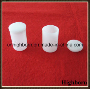 Opaque Melting Cylindrical Silica Quartz Crucibles with Cover pictures & photos