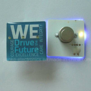 LED Light up Magnet Blinky Pin with Logo Print (3161) pictures & photos