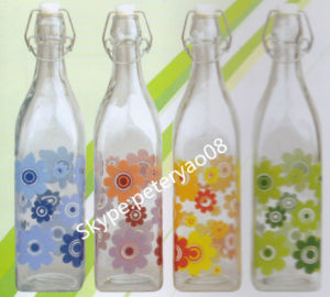 1L Glass Bottle for Milk and Juice Water with Clip Lid pictures & photos