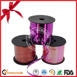 Single Face Polyester Plain Balloon Curly Ribbon pictures & photos