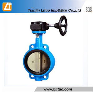 American Standard Cast Iron Wafer Butterfly Valve pictures & photos