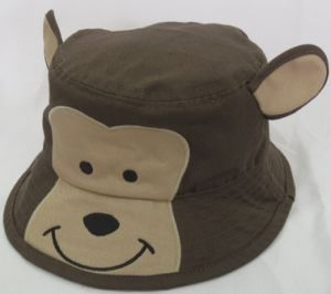 Monkey Animal Shape Kids Bucket Hat Bucket Cap Woven Cap (WB-080147)