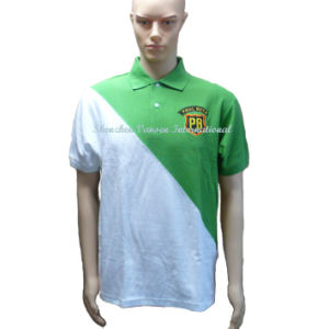 Elegant Yoke Embroidery Polo Shirt for Manufacturer pictures & photos