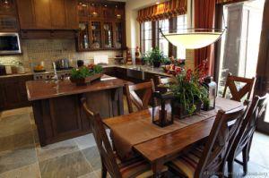 Golden Brown Kitchen Cabinet (GB15) pictures & photos