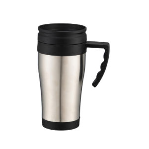 Double Wall Stainless Steel Insulated Auto Travel Mug with Handle pictures & photos