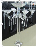 Crystal Candle Holders for Wedding Decoration with Three Posts (H: 30cm) pictures & photos
