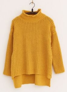Turtleneck Loose Thick Winter Sweater (BTQ124) pictures & photos