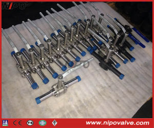 Forged Steel Thread Floating Ball Valve with Extended Pipe pictures & photos