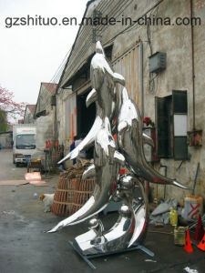 Dolphin Combination, Outdoor Garden Decoration Decorative Stainless Steel Sculpture pictures & photos