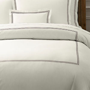 100% Egyptian Cotton 600tc Cotton Percale Crisp White Bedding Linen (DPFB8087) pictures & photos