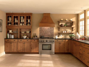 Cherry Wood Self Assemble Kitchen Cabinets pictures & photos