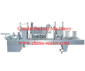 2015 New Cup Canned Fruit Filling Sealing Machine pictures & photos