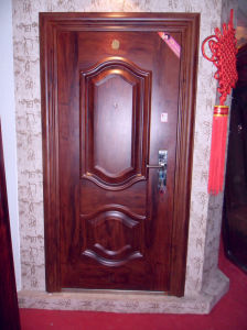 Economy Steel Door (WX-LS-184) pictures & photos