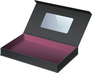 Magnetic Closure High End Packaging Shirt Box with Handle and Clear Window pictures & photos