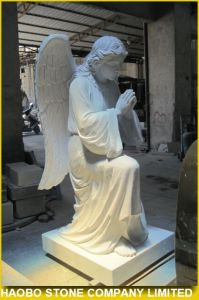 Pure White Marble Carving Angel Statue pictures & photos