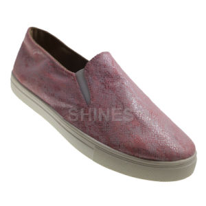 Snake Pattern PU Slip on Injection Shoes for Women