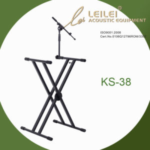 Heavy-Duty Single X Keyboard Stand with Mic Stand Ks-38 pictures & photos