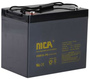 12V 75ah Sealed AGM Deep Cycle OEM Battery for Power Supply pictures & photos