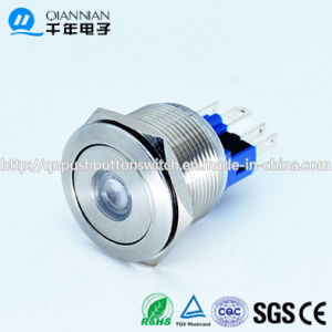 Qn22-A2 22mm DOT Type Momentary|Latching Flat Head Pin Terminal Metal Push Button Switch pictures & photos