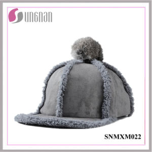 2015 Sweet Girls Hiphop Hat Plush Fur Ball Flat-Brimmed Cap (SNMXM022) pictures & photos