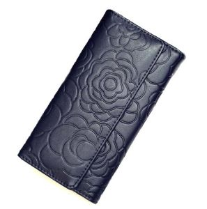 Wholesale Embossing Style Wallet Bag Clamshell Fashion Leather Purse (XQ0664) pictures & photos