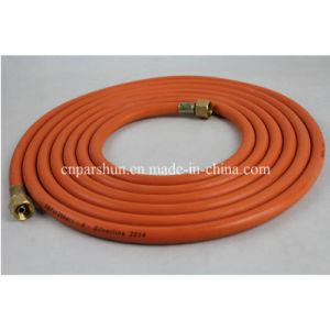 2016 Yellow Braided Household Fuel Rubber LPG Gas Transfer Hoses pictures & photos