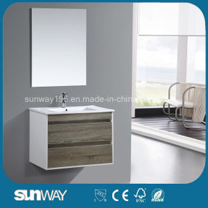 2016 Hot Sell Modern Melamine Mirror Cabinet with Mirror pictures & photos