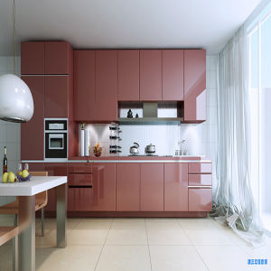 Modern Lacquer Door Kitchen Furniture (K-216) pictures & photos