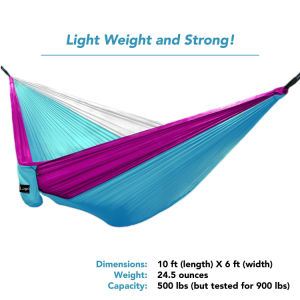 Carries Portable Travel Camping Hammock Parachute Double Hammock pictures & photos